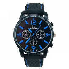 1PC Men Fashion Stainless Steel Sport Cool Quartz Hours Wrist Analog Watch