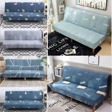 Folding Sofa Bed Cover All-inclusive Stretch Couch Without Armrest Bed 120-210cm