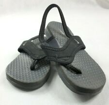 Nike Little Celso Flip Flops Play Sandals Kid Toddler Size 9C Black Preowned