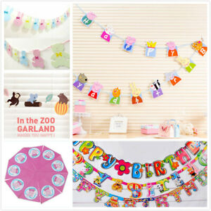9+ style Kids Birthday Party HAPPY BIRTHDAY LETTER Flag Banner Decoration UK