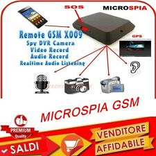 MICROSPIA AMBIENTALE GSM GPS REGISTRAZIONE VIDEO AUDIO Attivazione Vocale