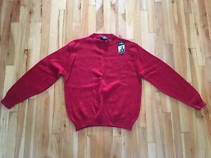 NWT Vintage Jantzen Men's XL Wool Blend Crew Neck Sweater - Red