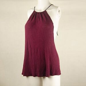 Free People Intimately Strings Mash Top Size Small Maroon Red