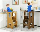 Kitchen Helper Stool with Safety Rail for Kids Height Adjustable Standing Tower