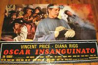 klein Filmplakat,OSCAR INSANGUINATO,Theater des Grauens,VINCENT PRICE ,HORROR