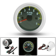 Carbon Fiber Face 2'' 52mm Rev Tacho Gauge Meter Tachometer 0-8000 RPM