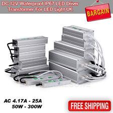 Impermeable IP67 LED Driver transformador de fuente de alimentación 240V-DC12V LED Iluminación UK
