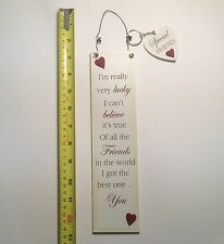 Lucky Friends Wall Plaque & Key Ring Friendship Birthday Gift Ideas for Her