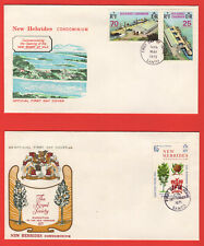NEW HEBRIDES - 1969 - 1973  - FOUR FIRST DAY COVERS  - FINE CONDITION - SEE SCAN