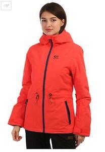 Rip Curl Womens Size L BETTY PLAIN Ski Snow Jacket - SGJCK4 Coral Rrp $249.99