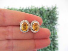 .42 Carat Diamond 14k White Gold Earrings E332 sep