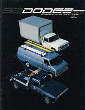 1992 Dodge COMMERCIAL TRUCKs Brochure: VAN,CHASSIS Cab,D350,RAM,PickUp,CUMMINS,
