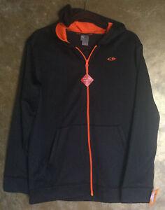 Champion C9 Boys Charcoal Zip Front Duo Dry Fleece Hoodie Jacket..Size XL(16-18)