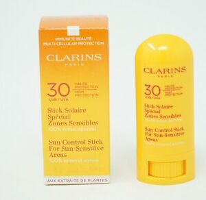 Clarins 30UVA High Protection Sun Control Stick For sensitive Areas 8g