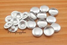 50 sets of cover button 1/2 inch (12mm) Size 20 Self cover buttons Flat back