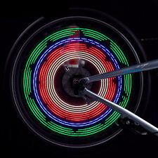 32 LED Cycling Bikes Bicycles Rainbow Wheel Valve Signal Tire Spoke Light
