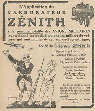 Z8402 Carburateur ZENITH - Pubblicità d'epoca - 1918 Old advertising