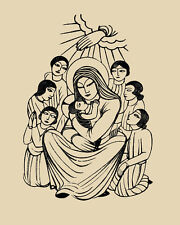 Madonna And Child With Children Canvas Eric Gill   24'  CANVAS