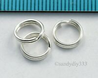 10x STERLING SILVER ROUND JUMPRING SPLIT JUMP RING 8mm 0.9mm 20GA #3064