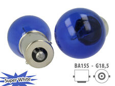 COPPIA Lampada Lampadina Luce S25 (BA15s) P21W Colore Bianco ALOGENA
