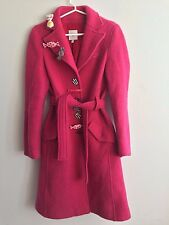 Moschino Women's Pink Wool Coat With Candies Size 8