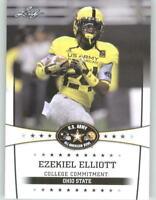 """2013 EZEKIEL ELLIOTT """"1ST EVER"""" LEAF U.S. ARMY ROOKIE CARD DALLAS COWBOYS OSU !"""