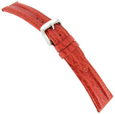 20mm Speidel Chrono Shark Genuine Leather Red Mens Watch Band 932 720