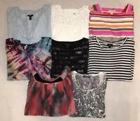 Lot Of (8) Shirts / Blouse Top / Womens Size M / Banana Republic, Talbots + More