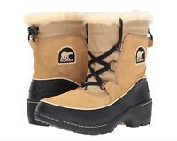 Sorel Tivoli III Women Waterproof Suede Leather Boot Curry/Blk Short Winter Snow