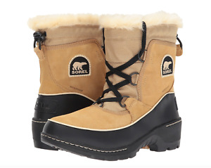 Sorel Tivoli III Women Waterproof Suede Leather Boot Curry/Blk Short Winter Snow
