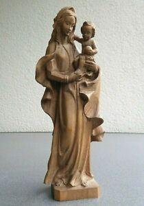 Ältere Madonna Holz Figur Geschnitzt Mutter Gottes Heiligenfigur Holzfigur