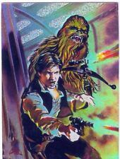 Star Wars Finest Matrix Chase Card M1 Han Solo and Chewbacca
