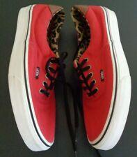 VANS Era 59 Red Leopard Cheetah Leather Trim Skate Shoes Men's 10.5 Women's 12