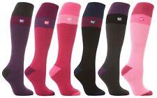Heat Holders - Ladies Womens 2.3 tog Knee Length Thick Striped Thermal Ski Socks
