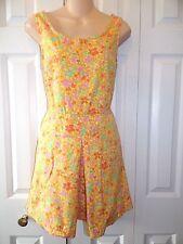 Womens Vtg  1980s J CREW 80s floral Cotton Sundress Size 8 Retro print & colors