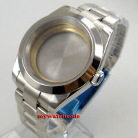 polished 40mm steel sapphire glass Watch Case fit ETA 2824 2836 8215 MOVEMENT