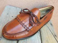 ALLEN EDMONDS Mens Soft Cognac Brown Leather Dress Shoes Slip On Loafer Size 9E