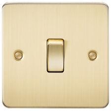 Knightsbridge Flat Plate 10A 1G 2 Way Switch Brushed Brass x1