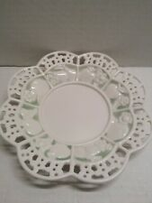 Vintage Avon China Plate 7.5 inches Northern Passages White Green Fruit Lattice