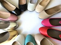New women lady basic round toe  ballet flats slip on loafer  shoes  all colors