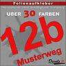 HN6 - Hausnummer Türschild Aufkleber  - Schild/Briefkasten/Nummern/Straße