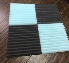 4 pc Acoustic Foam Tiles BLUE&CHARCOAL  1 x 12 x 12 (charcoal) ** FREE SHIPPING