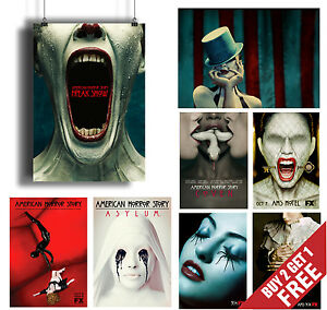 AMERICAN HORROR STORY POSTER, A3, A4 Size TV Series Show Art Print