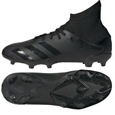 ADIDAS SIZE 4.5 PREDATOR 20.3 FG SOCCER CLEATS SHOES BLACK EF1929 YOUTH NEW