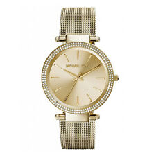 Michael Kors Uhr MK3368 DARCI Damen Edelstahl Gold Milanaise Armbanduhr Mesh NEU