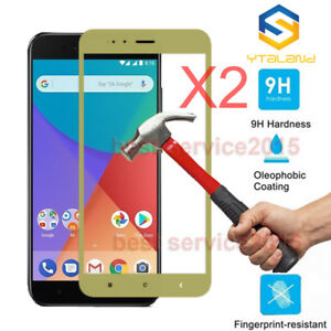 2pcs 9H+ Full Covered Tempered Film Glass Screen Protector For Xiaomi Mi A1