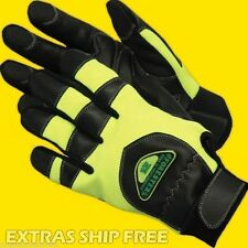 ChainSaw Protective Gloves,Green Aramid Lined,Anti Vibe,Breathable Spandex, L