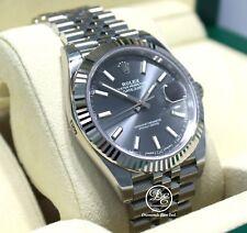 Rolex Datejust 126334 41mm Jubilee Rhodium Dial 18K White Gold Bezel Watch *NEW*