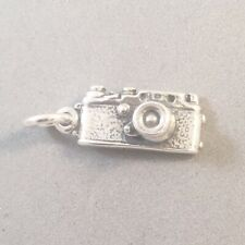 .925 Sterling Silver 3-D 35 MM CAMERA CHARM Pendant Photography Film 925 HB16