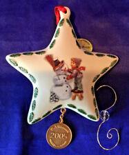 """Danbury Mint Mi Hummel """"Making New Friends - 2005"""" Nib Christmas Ornament W/Hook"""